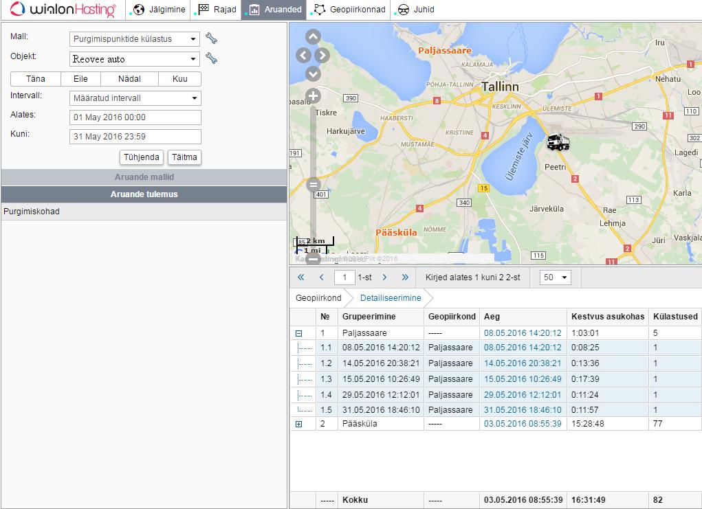 Tallinna vesi GPS reovee fekaali äravedu